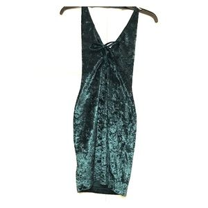 Fredericks of Hollywood Green Halter Top Dress